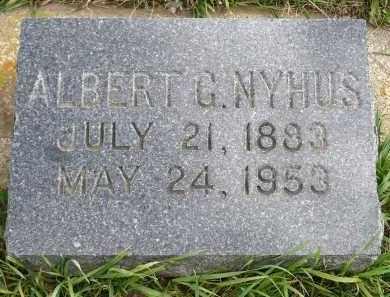 NYHUS, ALBERT GUTTORMSEN - Minnehaha County, South Dakota   ALBERT GUTTORMSEN NYHUS - South Dakota Gravestone Photos