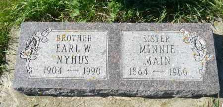 NYHUS, EARL W. - Minnehaha County, South Dakota | EARL W. NYHUS - South Dakota Gravestone Photos