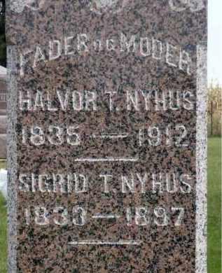 NYHUS, SIGRID T. - Minnehaha County, South Dakota | SIGRID T. NYHUS - South Dakota Gravestone Photos