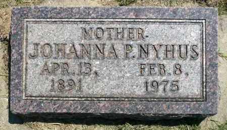 NYHUS, JOHANNA P. - Minnehaha County, South Dakota   JOHANNA P. NYHUS - South Dakota Gravestone Photos