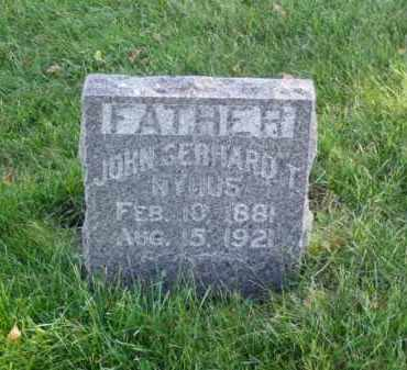 NYHUS, JOHN GERHARD T. - Minnehaha County, South Dakota | JOHN GERHARD T. NYHUS - South Dakota Gravestone Photos