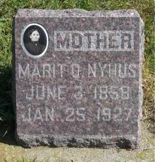 NYHUS, MARIT O. - Minnehaha County, South Dakota | MARIT O. NYHUS - South Dakota Gravestone Photos
