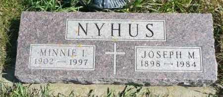 NYHUS, MINNIE I. - Minnehaha County, South Dakota | MINNIE I. NYHUS - South Dakota Gravestone Photos