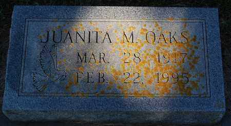 OAKS, JUANITA M. - Minnehaha County, South Dakota | JUANITA M. OAKS - South Dakota Gravestone Photos