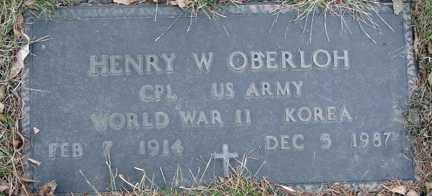 OBERLOH, HENRY W. (WWII - KOREA) - Minnehaha County, South Dakota | HENRY W. (WWII - KOREA) OBERLOH - South Dakota Gravestone Photos