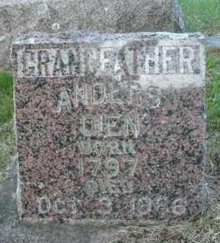 OIEN, ANDERS O. - Minnehaha County, South Dakota   ANDERS O. OIEN - South Dakota Gravestone Photos