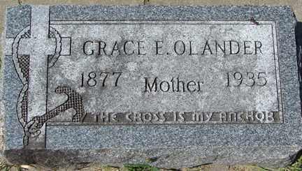OLANDER, GRACE E. - Minnehaha County, South Dakota | GRACE E. OLANDER - South Dakota Gravestone Photos