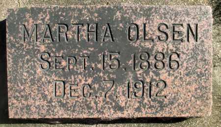 OLSEN, MARTHA - Minnehaha County, South Dakota | MARTHA OLSEN - South Dakota Gravestone Photos