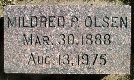 OLSEN, MILDRED P. - Minnehaha County, South Dakota | MILDRED P. OLSEN - South Dakota Gravestone Photos