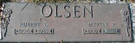 OLSEN, MYRTLE P. - Minnehaha County, South Dakota | MYRTLE P. OLSEN - South Dakota Gravestone Photos
