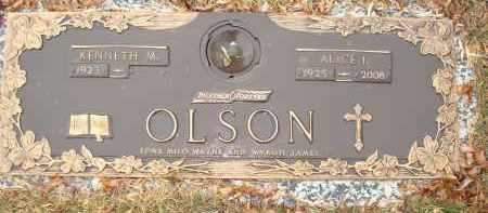 BENSON OLSON, ALICE IRENE - Minnehaha County, South Dakota | ALICE IRENE BENSON OLSON - South Dakota Gravestone Photos