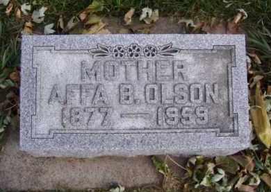 OLSON, AFFA B. - Minnehaha County, South Dakota | AFFA B. OLSON - South Dakota Gravestone Photos