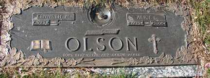OLSON, ALICE I. - Minnehaha County, South Dakota | ALICE I. OLSON - South Dakota Gravestone Photos