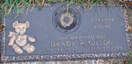 OLSON, BRADY A. - Minnehaha County, South Dakota | BRADY A. OLSON - South Dakota Gravestone Photos