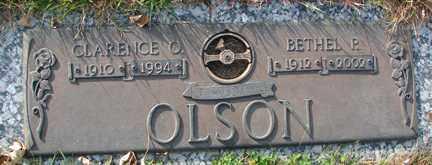 OLSON, CLARENCE O. - Minnehaha County, South Dakota | CLARENCE O. OLSON - South Dakota Gravestone Photos