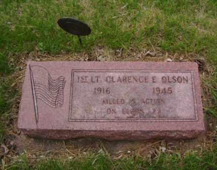 OLSON, CLARENCE E. - Minnehaha County, South Dakota | CLARENCE E. OLSON - South Dakota Gravestone Photos