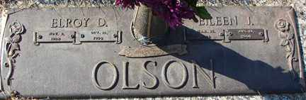 OLSON, ELROY D. - Minnehaha County, South Dakota | ELROY D. OLSON - South Dakota Gravestone Photos