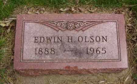 OLSON, EDWIN HJELMER - Minnehaha County, South Dakota | EDWIN HJELMER OLSON - South Dakota Gravestone Photos