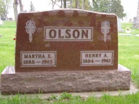 OLSON, MARTHA E. - Minnehaha County, South Dakota | MARTHA E. OLSON - South Dakota Gravestone Photos