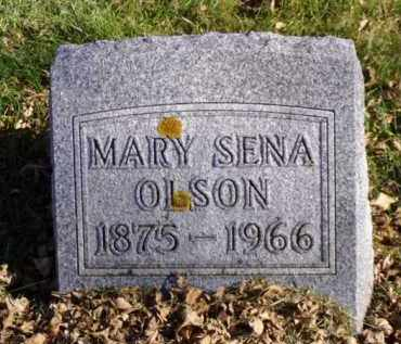 OLSON, MARY SENA - Minnehaha County, South Dakota | MARY SENA OLSON - South Dakota Gravestone Photos
