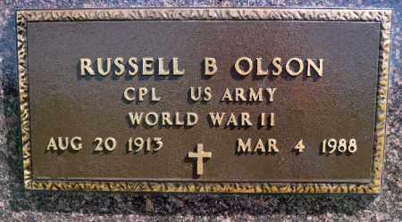 OLSON, RUSSELL B. (WWII) - Minnehaha County, South Dakota   RUSSELL B. (WWII) OLSON - South Dakota Gravestone Photos