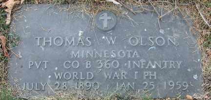 OLSON, THOMAS W. (WWI) - Minnehaha County, South Dakota   THOMAS W. (WWI) OLSON - South Dakota Gravestone Photos