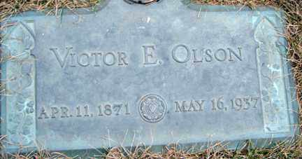 OLSON, VICTOR E. - Minnehaha County, South Dakota | VICTOR E. OLSON - South Dakota Gravestone Photos