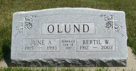OLUND, JUNE A. - Minnehaha County, South Dakota | JUNE A. OLUND - South Dakota Gravestone Photos