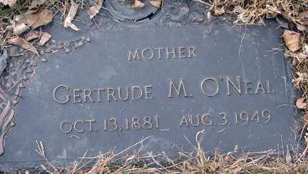 O'NEAL, GERTRUDE M. - Minnehaha County, South Dakota | GERTRUDE M. O'NEAL - South Dakota Gravestone Photos