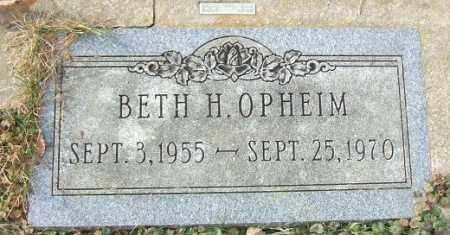 OPHEIM, BETH H. - Minnehaha County, South Dakota | BETH H. OPHEIM - South Dakota Gravestone Photos