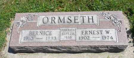 ORMSETH, ERNEST W. - Minnehaha County, South Dakota | ERNEST W. ORMSETH - South Dakota Gravestone Photos