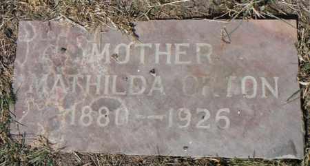 ORTON, MATHILDA - Minnehaha County, South Dakota   MATHILDA ORTON - South Dakota Gravestone Photos