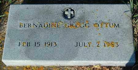 GREGG OTTUM, BERNADINE - Minnehaha County, South Dakota | BERNADINE GREGG OTTUM - South Dakota Gravestone Photos
