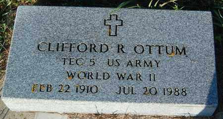 OTTUM, CLIFFORD R. (WWII) - Minnehaha County, South Dakota | CLIFFORD R. (WWII) OTTUM - South Dakota Gravestone Photos