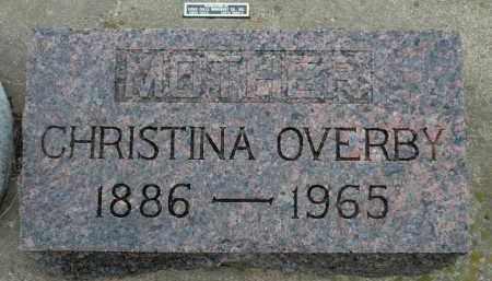 OVERBY, CHRISTINA - Minnehaha County, South Dakota | CHRISTINA OVERBY - South Dakota Gravestone Photos