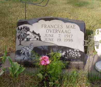 OVERVAAG, FRANCES MAE - Minnehaha County, South Dakota | FRANCES MAE OVERVAAG - South Dakota Gravestone Photos