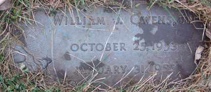 OWENS, WILLIAM J. JR. - Minnehaha County, South Dakota   WILLIAM J. JR. OWENS - South Dakota Gravestone Photos