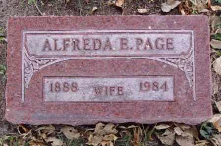 PAGE, ALFREDA E. - Minnehaha County, South Dakota | ALFREDA E. PAGE - South Dakota Gravestone Photos