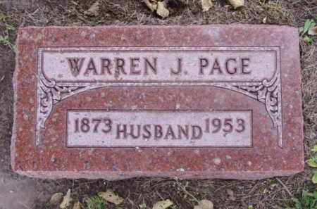 PAGE, WARREN J. - Minnehaha County, South Dakota | WARREN J. PAGE - South Dakota Gravestone Photos