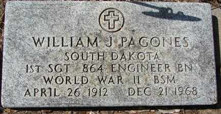 PAGONES, WILLIAM J. - Minnehaha County, South Dakota   WILLIAM J. PAGONES - South Dakota Gravestone Photos