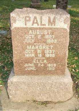 PALM, AUGUST - Minnehaha County, South Dakota   AUGUST PALM - South Dakota Gravestone Photos