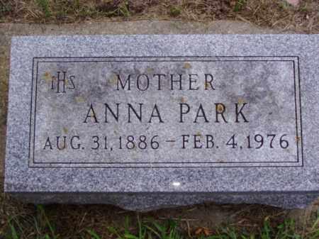 PARK, ANNA - Minnehaha County, South Dakota | ANNA PARK - South Dakota Gravestone Photos