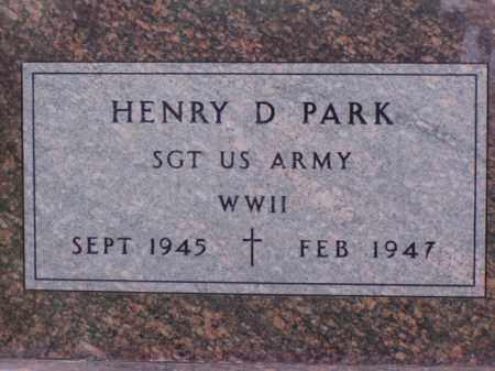 PARK, HENRY D. - Minnehaha County, South Dakota | HENRY D. PARK - South Dakota Gravestone Photos