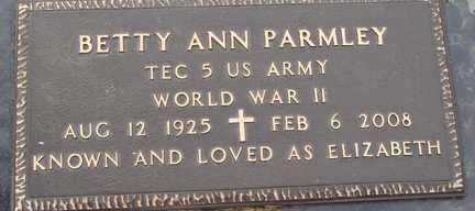 ROSS PARMLEY, BETTY ANN - Minnehaha County, South Dakota | BETTY ANN ROSS PARMLEY - South Dakota Gravestone Photos