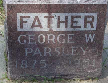PARSLEY, GEORGE W. - Minnehaha County, South Dakota   GEORGE W. PARSLEY - South Dakota Gravestone Photos