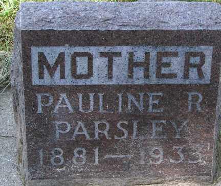 PARSLEY, PAULINE R. - Minnehaha County, South Dakota   PAULINE R. PARSLEY - South Dakota Gravestone Photos