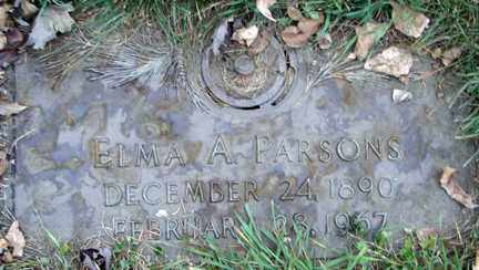 PARSONS, ELMA A. - Minnehaha County, South Dakota | ELMA A. PARSONS - South Dakota Gravestone Photos
