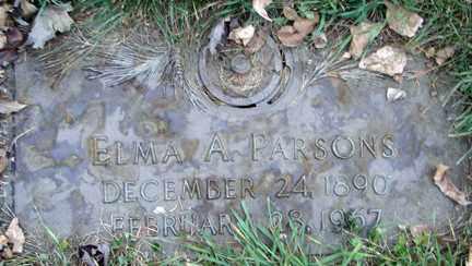 PARSONS, ELMA A. - Minnehaha County, South Dakota | ELMA A. PARSONS - South Dakota Gravestone Photos