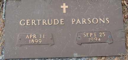 PARSONS, GERTRUDE - Minnehaha County, South Dakota   GERTRUDE PARSONS - South Dakota Gravestone Photos