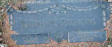 PARSONS, RALPH W. - Minnehaha County, South Dakota | RALPH W. PARSONS - South Dakota Gravestone Photos